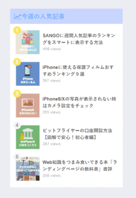 SANGOにWordpressPopularPostsを追加