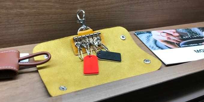 MAMORIOはキーケースに付けられるサイズ感