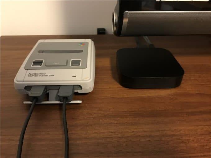 ミニスーパーファミコンとAppleテレビで比較
