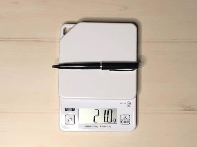 モンブランジェネレーションの重さは21g