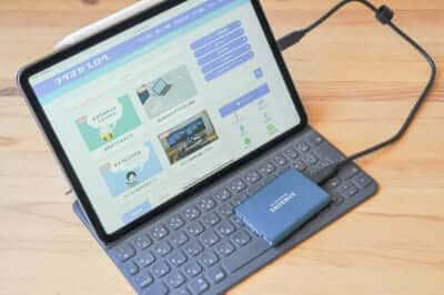 iPad Proと外付けSSD