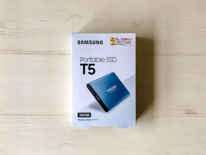 外付けSSD SAMSUNG PotableSSD T5外観
