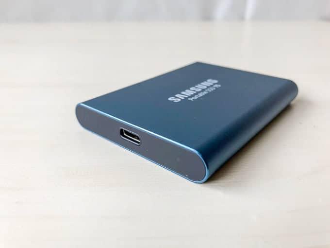 外付けSSD SAMSUNG PotableSSD T5のUSB-C