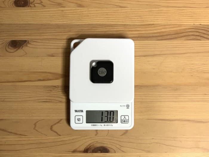 Tile Proの重さ