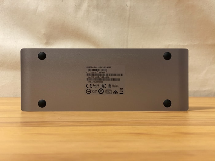 トリプルディスプレイCalDigit USB-C Pro Dockドッキングステーション裏面