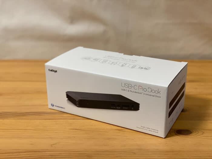 トリプルディスプレイCalDigit USB-C Pro Dockドッキングステーションレビュー