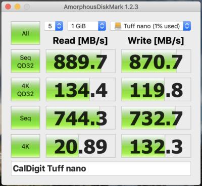 CalDigit Tuff Nano速度