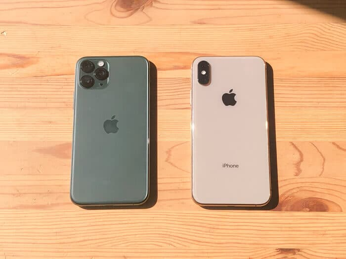 iPhone11ProとiPhoneXSの比較