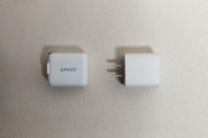 Anker急速充電器とiPhone11 Proの急速充電器