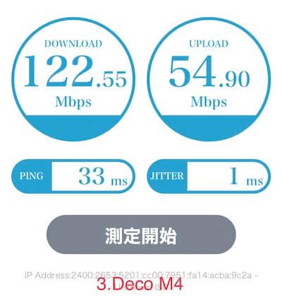 TP-Link DecoM4通信速度浴室