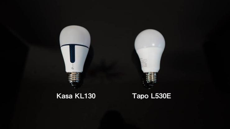 Tapo L530EとKasa KL130のサイズ比較